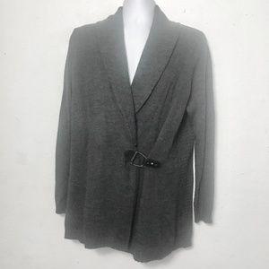Cynthia Rowley Wrap Cardigan Sweater  Sz. 1X Gray